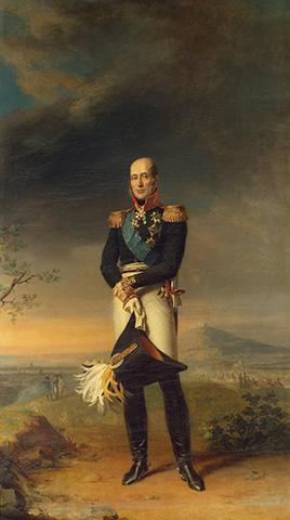 Портрет героя 1812 года, генерала Барклая-де-Толли, кисти Джорджа Доу