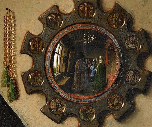 Фрагмент картины Яна Ван Эйка «Портрет Четы Арнольфини» 1434 г.