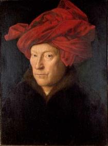 Портрет работы Яна Ван Эйка «Мужчина в красном тюрбане»