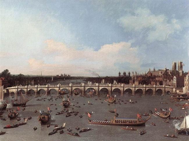 Каналетто «Вестминстерский мост» 1746 г.