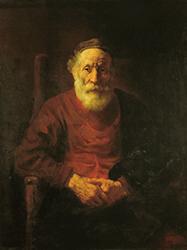 Рембрандт 'Старик в красном'