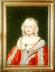 Дама в костюме барокко 17 века