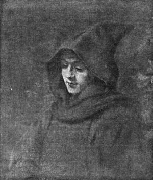 Гравюра 'Портрет Титуса в образе монаха'